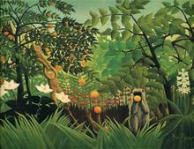 Peinture à lhuile danimaux singe   Motif arbre de fruits, forêt verte, imprimés sur toile, décoration murale pour la maison, livraison gratuite