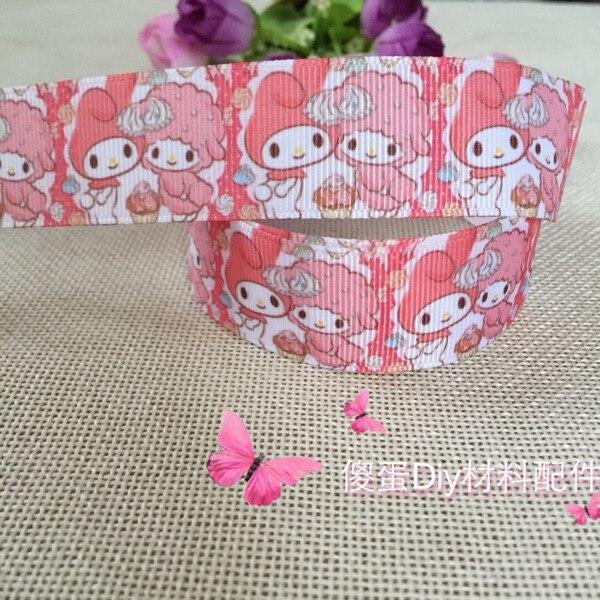 """1 """"25MM Kawaii My Melody personaje dibujo estampado grogrén cinta fiesta decoración de satén cintas envío gratis"""
