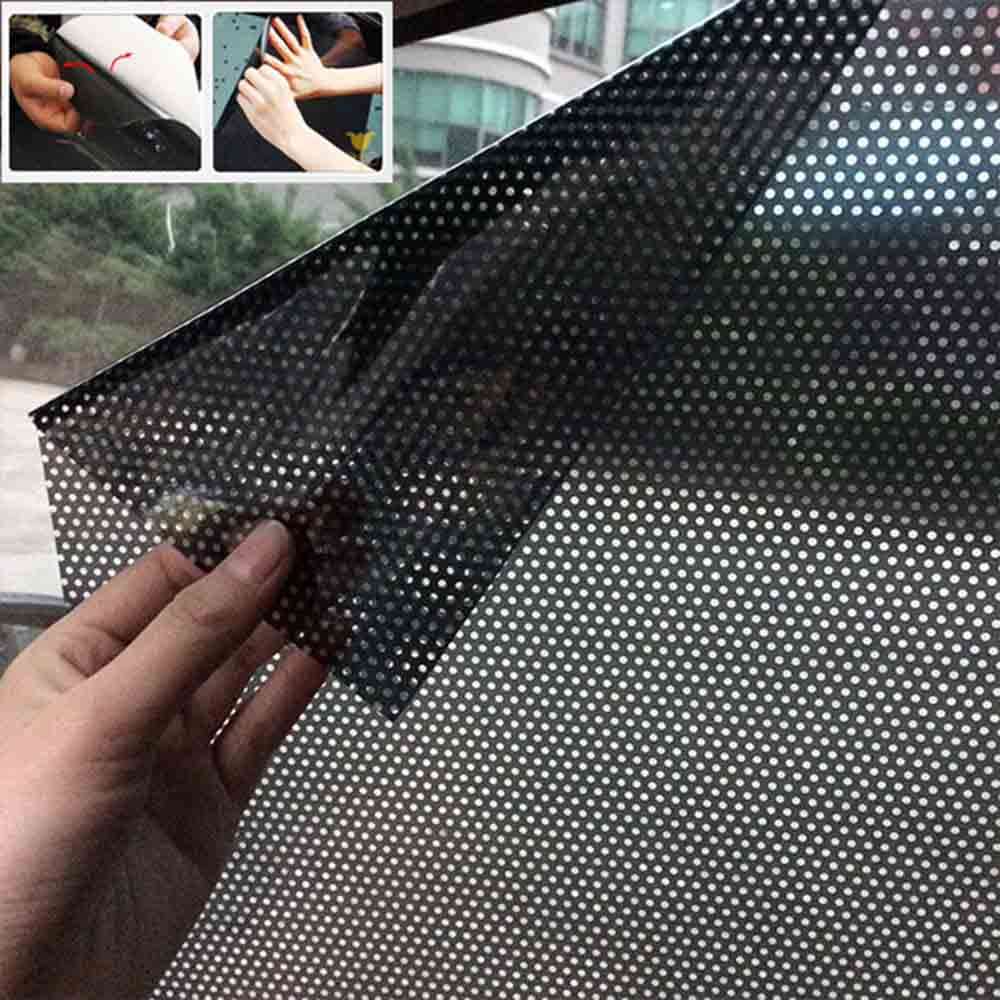 Pair of 72*52cm DIY Car Sun Shades Film Protection Window Cover Side Sun Shade Cover Block Static Visor Shield Screen Sticker