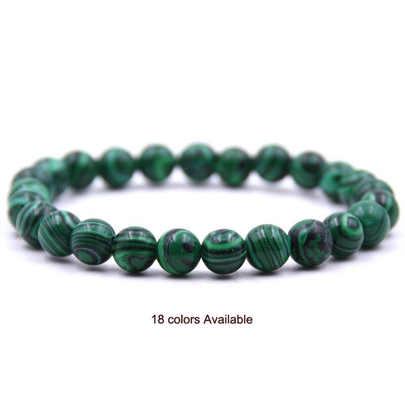 Natural Stone 8mm Beads Bracelets High Quality Tiger Eye Buddha Lava Round Beads Elasticity Rope Bracelets for women & men jewel