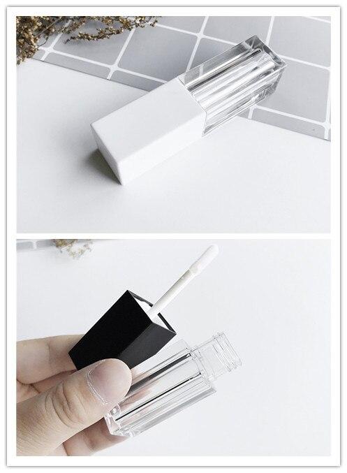 1 Uds brillo de labios Tubo vacío pintalabios DIY botella de Tubo de bálsamo labial contenedor con tapa Negro claro blanco recipiente de muestras cosmético