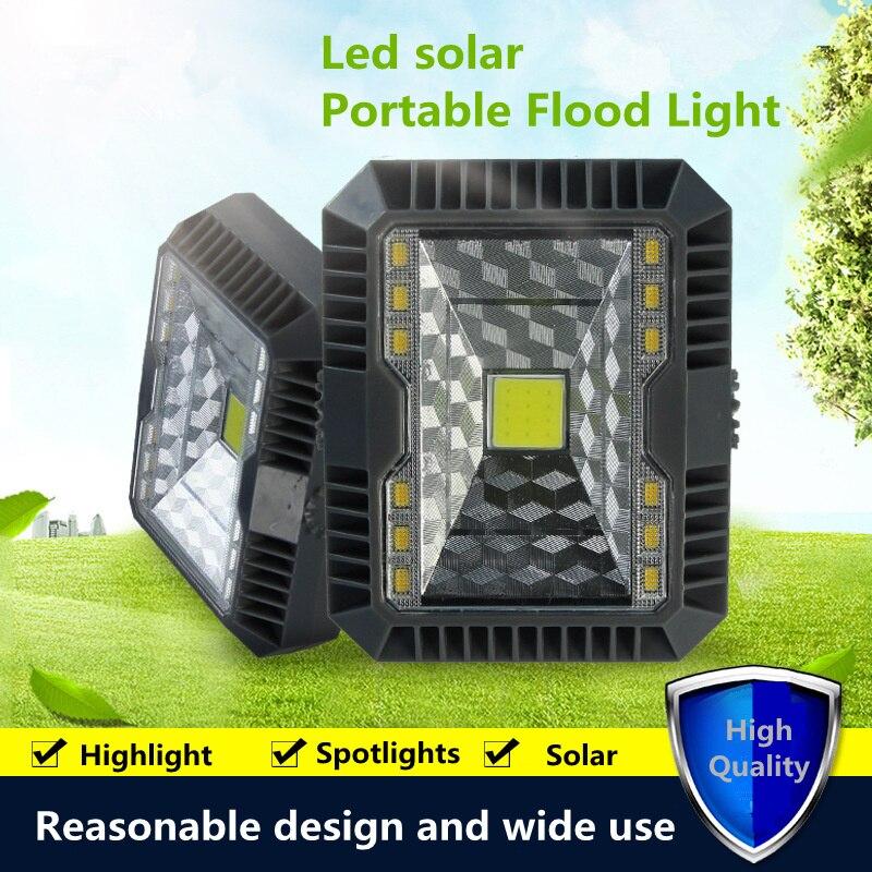 LED Flood Light Solar Lights Outdoor Solar Lamp Camping Tent Camping Kit Hanging Wall Lantern Lamparas Solares Exterior Potentes