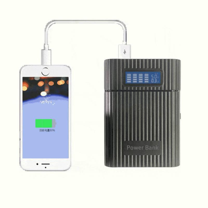 4x18650 diy banco de bateria portátil caso caixa escudo da bateria diy kit digital display lcd powerbank portátil bateria caso