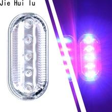 1Pcs Bike Night Light USB Charging Blue Red LED Strobe Flashing Shoulder Traffic Warning Signal Lamp Party Atmosphere Led Lights