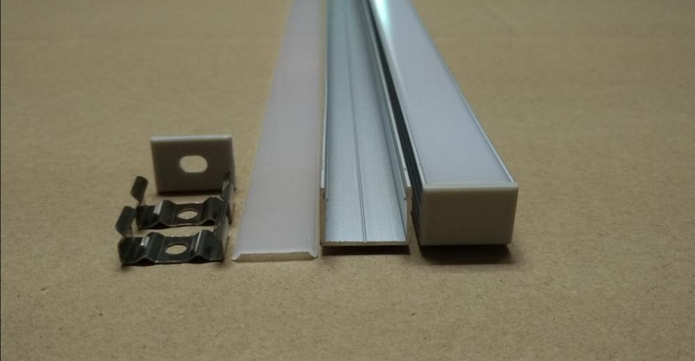 Perfiles de aluminio de envío gratis/accesorios para perfiles de aluminio led/canal de luz de tira led 2 m/unids 50 m/lote