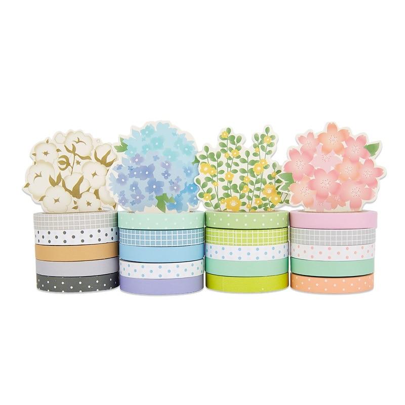 80 pcs/Lot  7mm*5m Lovely dots paper washi tape Potting flower decoration tapes diary sticker scrapbooking Stationery FJ446