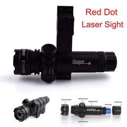 Caça Tiro Rifle Red Dot Laser Sight Scope 20mm Rail Tactical Arma laser Barrel Monte Red Dot Mira A Laser designador