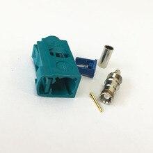 Fakra Z connecteur femelle eau bleu   Couleur à sertir pour câble RG316 RG174, codage neutre 1 pièce