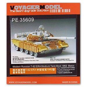 KNL HOBBY modelo Voyager PE35609 T-62 ERA medianas carro actualización metal grabado piezas