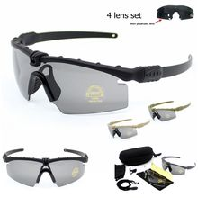 Army Protection Military Glasses Paintball Shooting Goggles Tactical Polarized Sunglasses Windproof