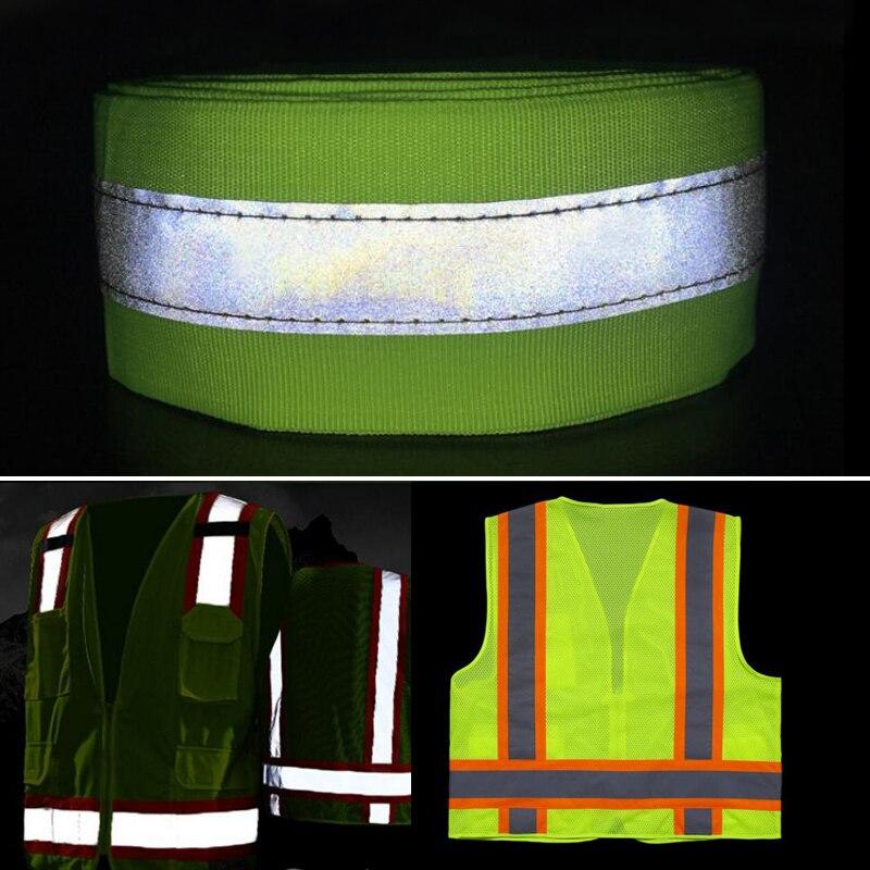 Флуоресцентная желтая/флуоресцентная оранжевая светоотражающая ткань для пришивания безопасной одежды