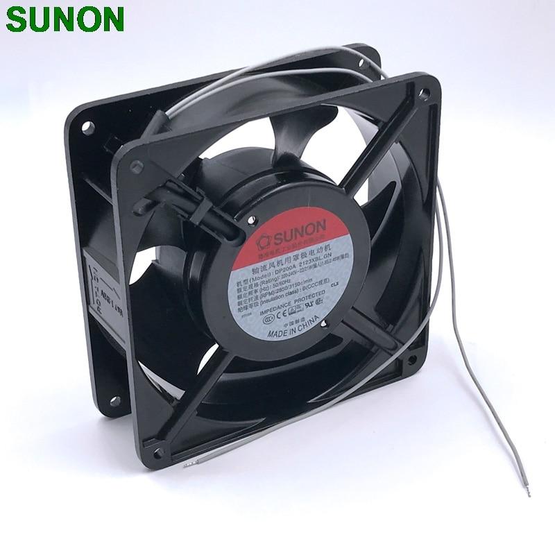 220V fan  230V fan New For Sunon DP200A 2123XBL.GN cooling fan 12cm 12038 120*120*38MM 220V cabinet cooling fan new nmb original 12038 24v 0 46a 4715kl 05t b40 120 120 38mm cooling fan