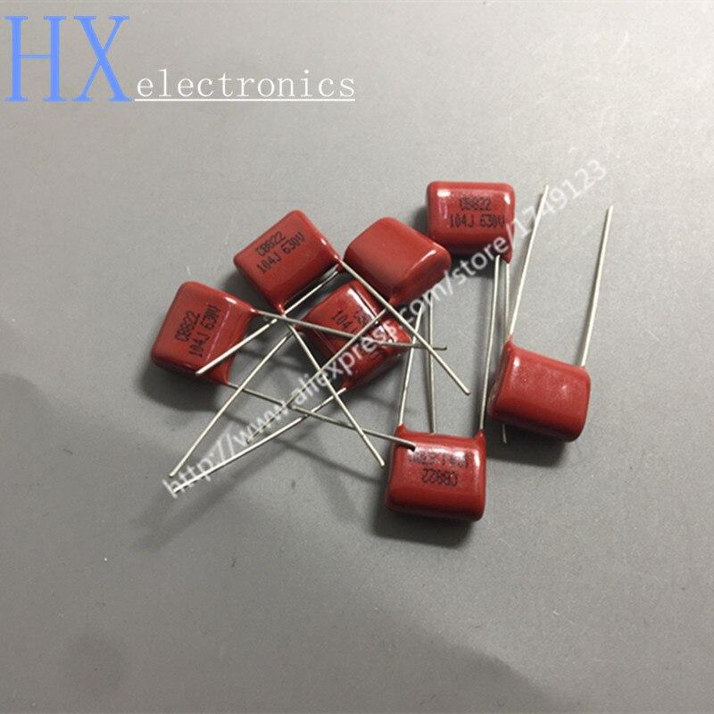 Free shipping 20PCS Hot Sale 630V 104J 0.1UF 100nF P 15MM CBB capacitor
