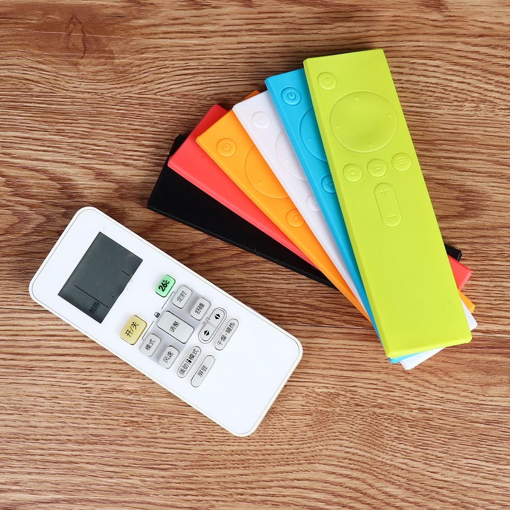 1PC de silicona suave Control remoto cubre Anti-Slip polvo de caucho cubre funda protectora para Xiaomi TV Mi caja de mercancías