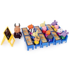 Peppa Pig Little Girl George School Classroom Desk Set Toy Piggy Teacher Action Figure Model Doll Family Set Children Toys Gifts