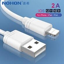 Câble de données de charge NOHON TPE 8 broches pour iPhone X XS MAX XR 8 7 6 6S 5 5S Plus Ipad mini IOS 11 12 chargeur déclairage synchronisation ligne USB