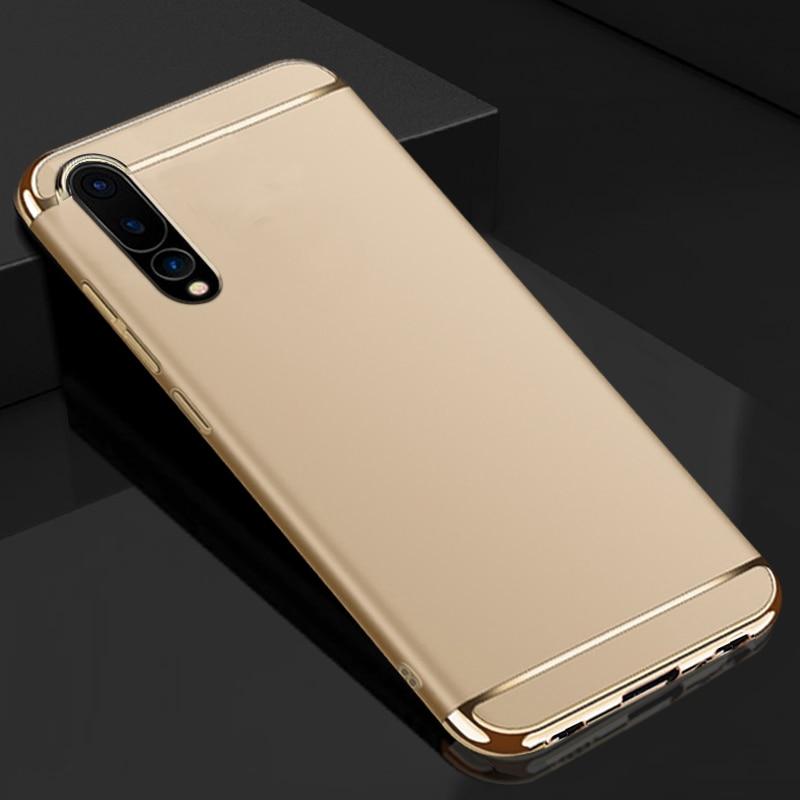 YUETUO luxury hard plastic original phone back etui,coque,cover,case for huawei p20 pro p 20 plus p20pro black blue accessories