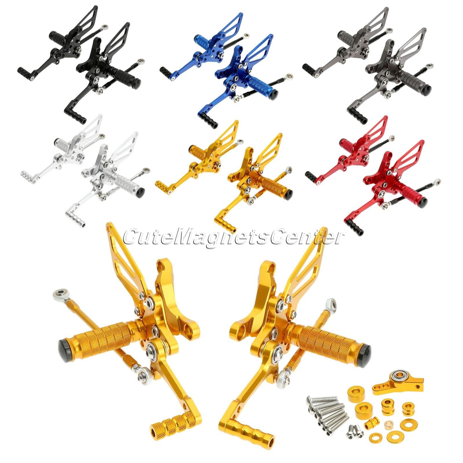 Reposapiés traseros ajustables CNC para motocicleta, 1 juego/Color, reposapiés para Ducati 848 1098 1098R S 1198, todos los años, clavijas de pie para motocicleta
