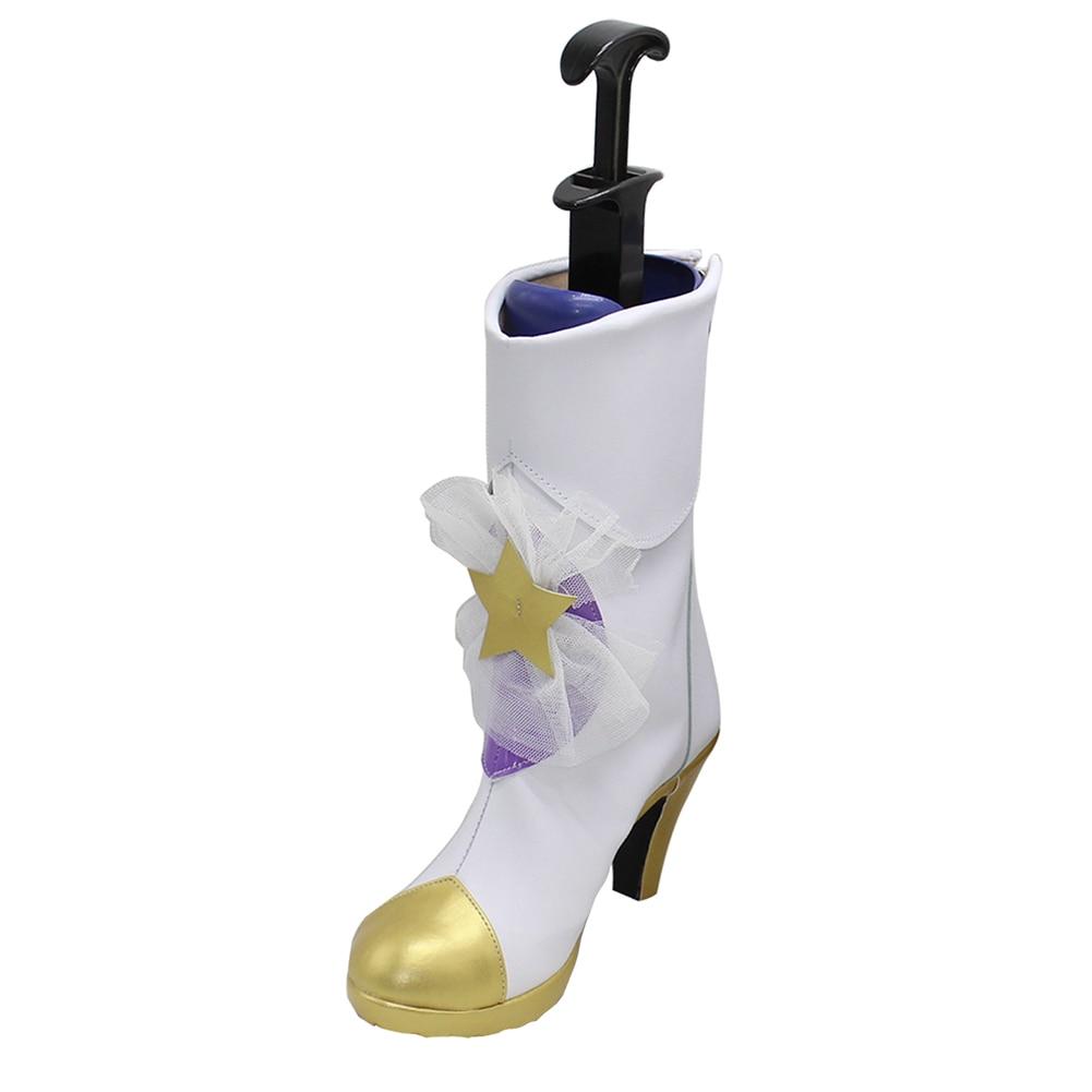 Brdwn chica mágica mujer estrella guardián Lux Lulu Jinx Janna Cosplay bowknot botas de disfraz zapatos de tacón alto