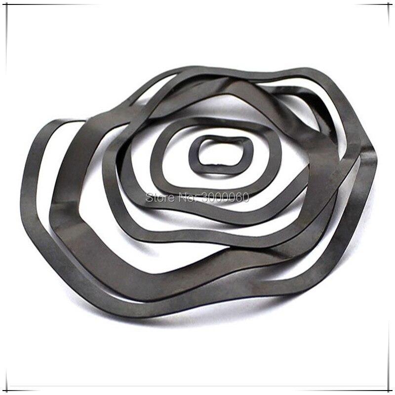 (ID) de 27mm * (OD) 34mm * (espesor) 0,4mm de acero negro ola primavera lavadora 500 unids/lote