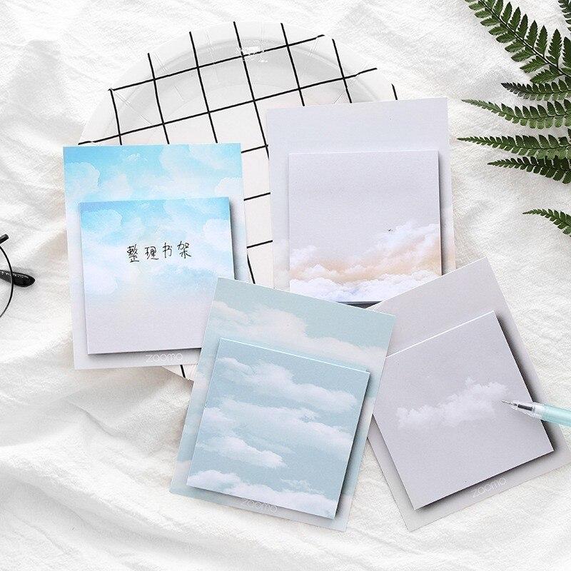 1PC Neue Kreative Frische Wetter Memo Pad Papier Beitrag Sticky Notizen Notizblock Schreibwaren Papeleria Büro Schule Liefert