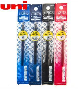 12 Pçs/lote Signo Uni-Bola Retrátil Gel Caneta De Tinta de Recarga para UM-151 0.38 milímetros stylo