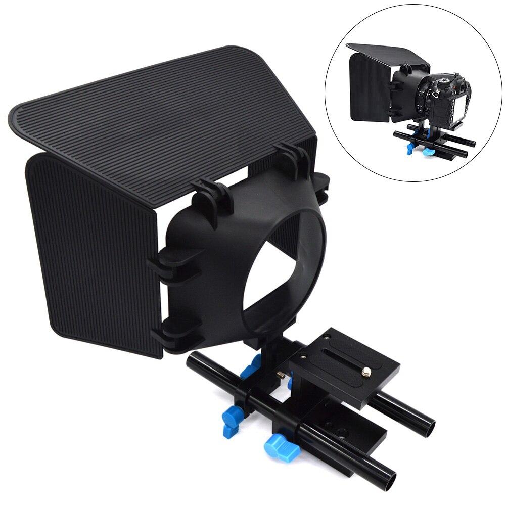 Nuevo 15mm Rail Rod sistema de soporte para cámara DSLR soporte de guía de placa base para Follow Focus Matte Box DOM668