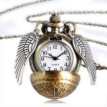 Elegant Golden Watch Pocket Watch Alice In Wonderland Necklace Chain Pendant Watches Relogio Feminin