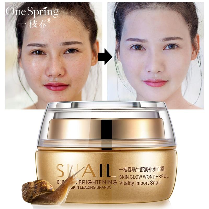 Snail Skin Face Cream korean cosmetics Shea Moisture Whitening Facial Treatment  Skin Care ONESPRING 50g