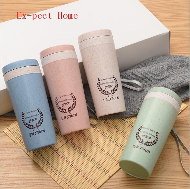كوب ماء من ألياف القش ، مصنوع يدويًا ، للهدايا الإبداعية ، مع طبقة مزدوجة ، Maixiang ، 20 قطعة