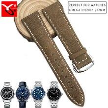 Correa DE reloj DE silicona DE goma DE 19mm, 20mm, 21mm, 22mm, hebilla plegable, correa DE reloj para Omega Seamaster 300, reloj Speedmaster DE VILLE