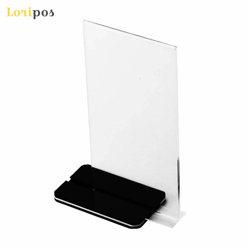 20 pcs A4 Double Side Acrylic Table Display Stand Sign Billboard Holder Menu Price Tag Display Holder