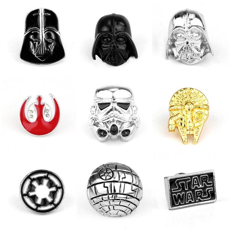 Star Wars Pin broche de stormtrooper Pin Star Wars Darth Vader Alianza Rebelde Halcón Milenario broche insignias de solapa de alfiler hombres