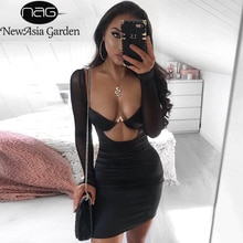 Newasia preto malha vestido de cetim 2019 vestidos de verão mulher festa noite underwired cortar bodycon clube vestidos sexy robe femme vermelho