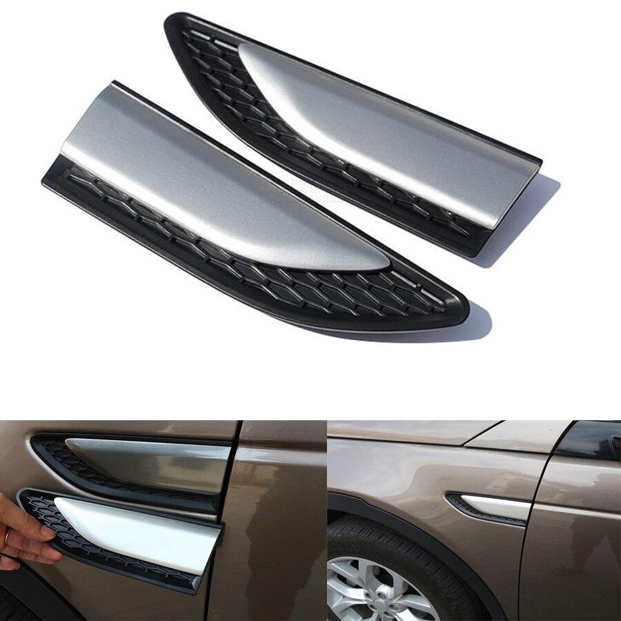 Accesorios de ajuste de la cubierta de ventilación lateral del cuerpo del guardabarros del coche de estilo coche YAQUICKA para Land Rover Discovery Sport 2015-16 cubiertas de coche