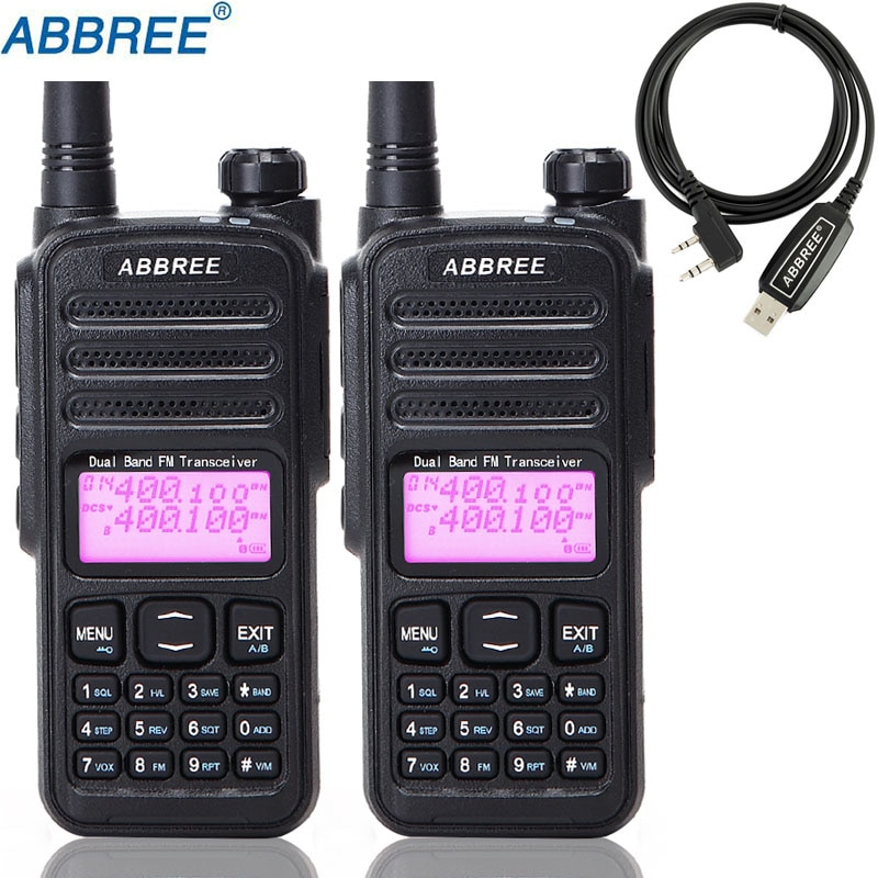 2Pcs ABBREE AR-52 Cross Band Repeater Duplex Repeater Duplex Work Mode Dual Band Dual Receiving Dual PTT Walkie Talkie Ham Radio