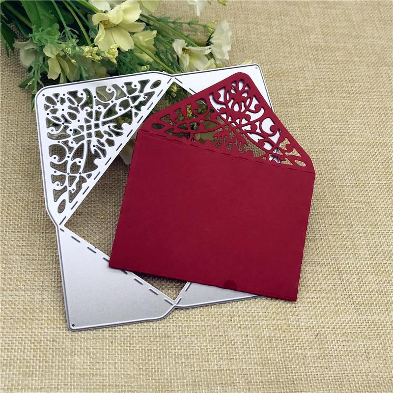 Rectangle Envelope Pocket Metal Cutting Dies for DIY Scrapbooking Album Paper Cards Decorative Crafts Embossing Die Cuts