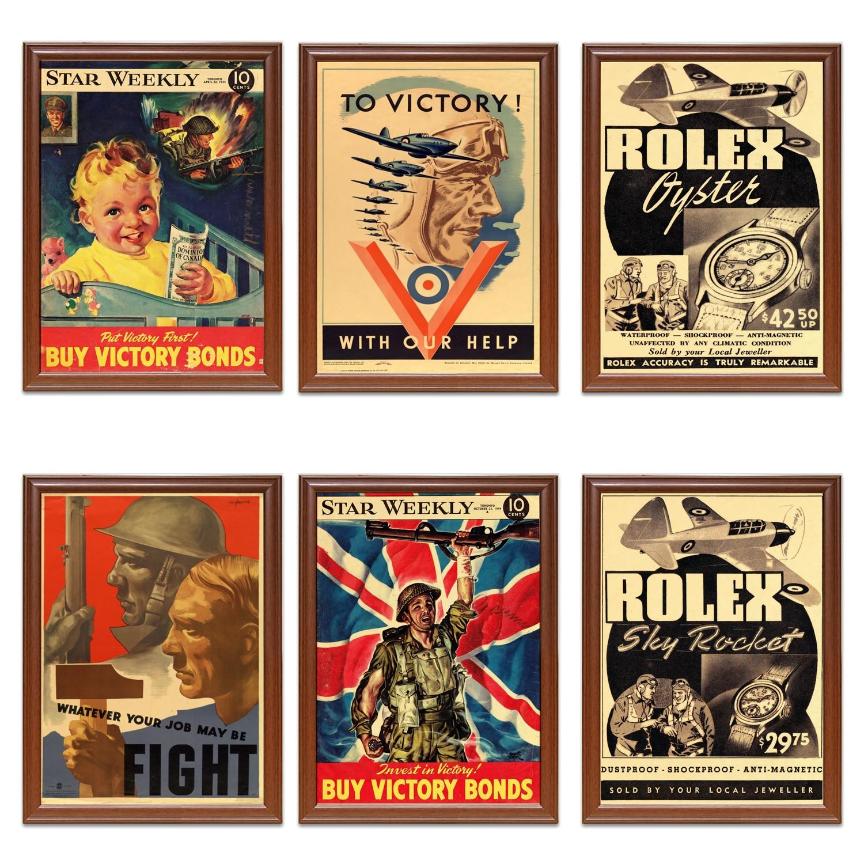 Vintage 1939-1945 Canadá WW2 cartel de Propaganda a la victoria con nuestra ayuda pinturas clásicas en lienzo pegatinas de pared decoración del hogar regalo
