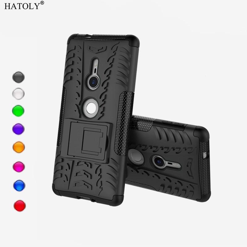 "HATOLY sFor Case Sony Xperia XZ2 Cover TPU & PC Armor Case For Sony Xperia XZ2 Cover For Sony Xperia XZ2 H8216 H8266 Fundas 5.7"""