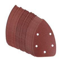 30 pièces 60 + 80 + 120 feuilles de ponçage disque papier de verre pour Black & Decker Palm Sander