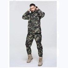 XS-3XL hommes en plein air ensembles imperméables softshell vestes pantalons V5.0 sports chasse camping thermique tactique anti-usure randonnée costumes