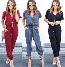 Mode 2017 nouveau été rouge noir combinaison femmes à manches longues mode Club combinaisons mode moulante longue section femmes combinaison