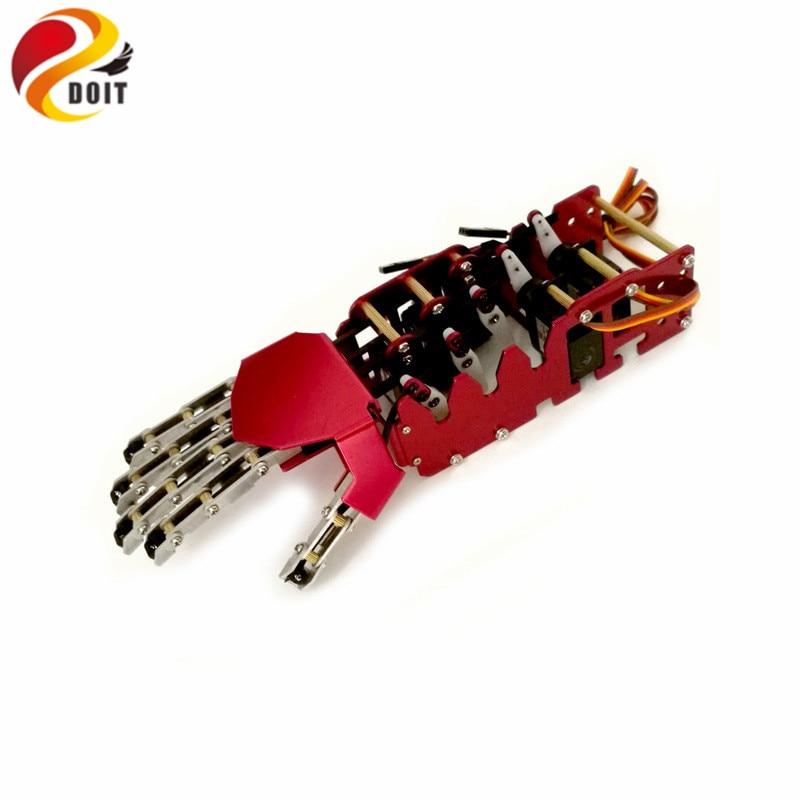 5DOF Robot mano/cinco dedos/brazo manipulador de Metal/Mini mano biónica/pinza/robot/accesorios de coche/juguete RC DIY