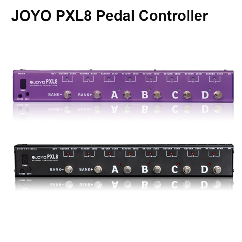 JOYO PXL8 8 Loops Guitar Programmable Effect Pedal Looper Switcher Router Looping System WAVE-X for Boss Mo oer Pedal Controller enlarge
