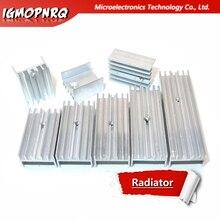 10pcs Aluminum Heatsink Radiator 15*10*16/20/22/25/30/40/50mm Transistor TO-220  hjxrhgal For Transistors TO220 white