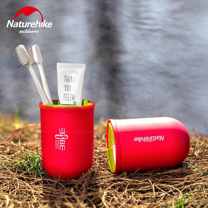Seyahat Kitleri diş fırçası kabı Çok Fonksiyonlu Kapsül Şekli Yıkama Gargara Fincan Taşınabilir Diş Fırçası Diş Macunu Çantası Kamp Yürüyüş için