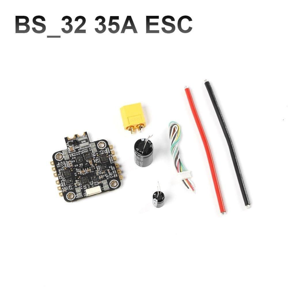 4 in1 BL32 32bit 35A ESC Blheli32 4x35A 3-6S Support Dshot1200/600/300/150 Oneshot125 Multishot PWM For 180 250MM FPV Quadcopter