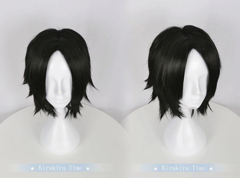 Anime Cosplay una pieza Portgas D. Ace pelo negro corto de Halloween juego