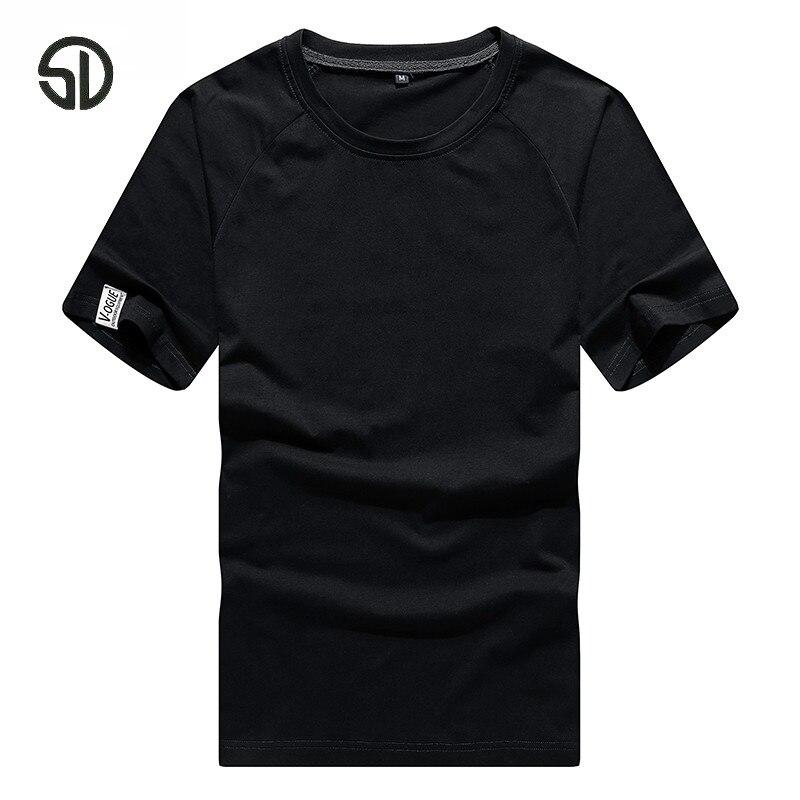 Europe taille hommes t-shirt col rond été couleur verte solide t-shirt pour hommes Hip Hop étendu surdimensionné coton t-shirt lâche 2019
