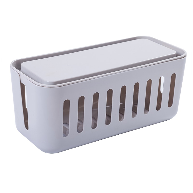 ZW040 caja de colección creativa, caja de cable de alimentación, caja de cable de escritorio, caja de almacenamiento de línea de datos de enchufe de línea de alimentación 31*14*14cm